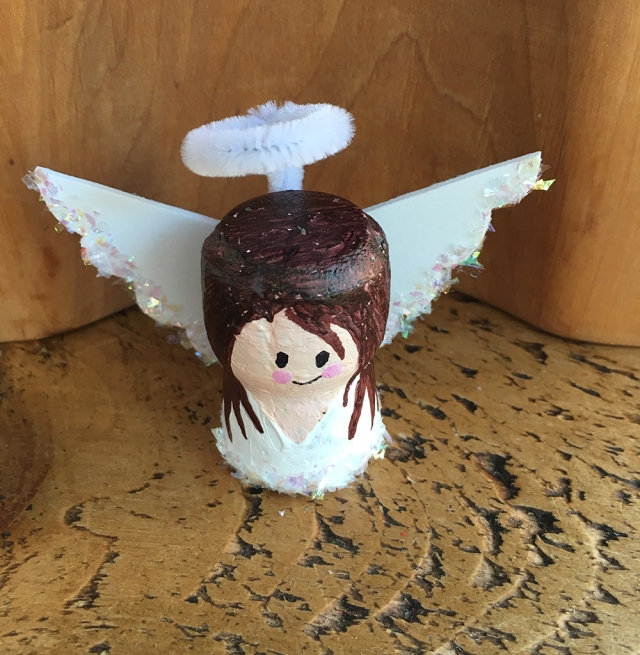 Recycled Cork Character crafts - ideal for story telling and small world play - Angel