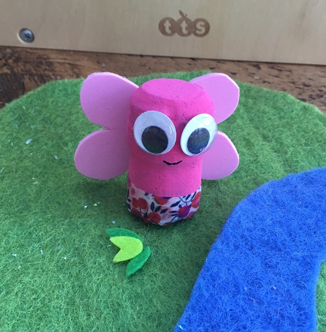 Recycled Cork Character crafts - ideal for story telling and small world play - Butterfly