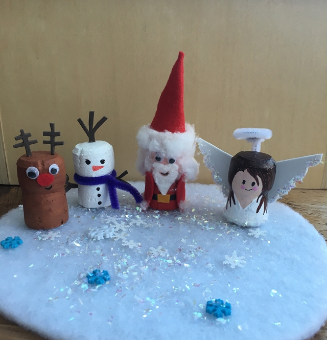 Recycled Cork Character crafts - ideal for story telling and small world play - Christmas, Santa