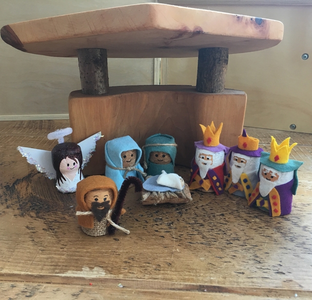 Recycled Cork Character crafts - ideal for story telling and small world play - Nativity Scene