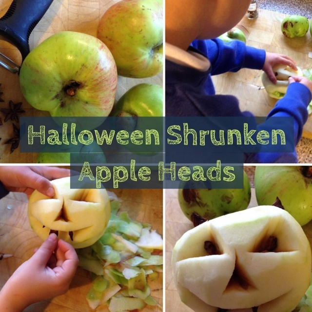 9 Halloween Craft Projects for Kids - shrunken apple heads