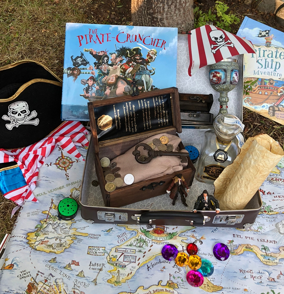 Inspiring Suitcases filled with exciting treasures to explore - pirate adventures