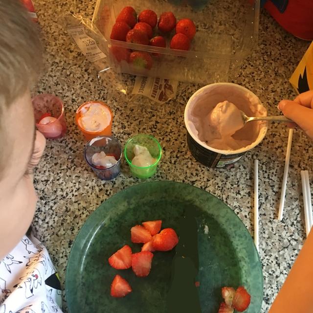 Frozen Yogurt and Fruit Lollies by Lottie Makes