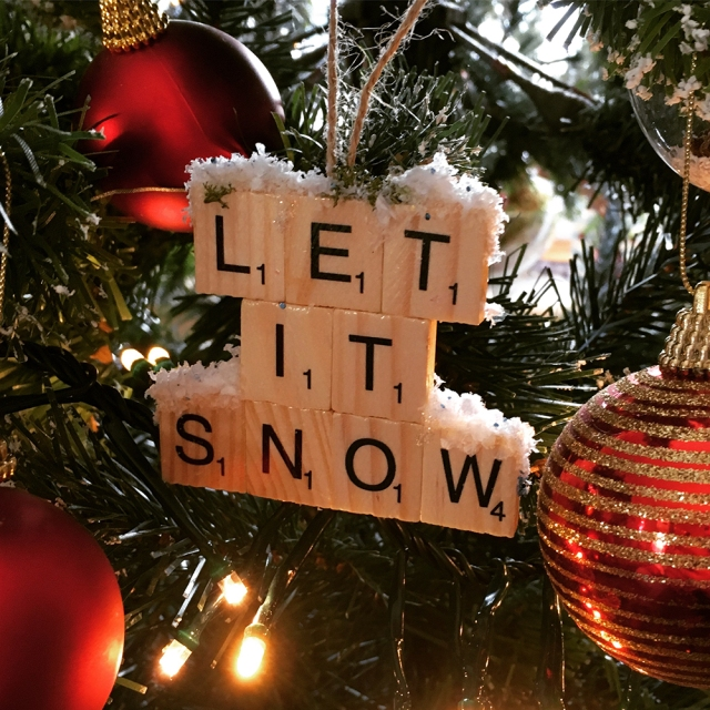 Let it Snow Scrabble letter Christmas Decorations