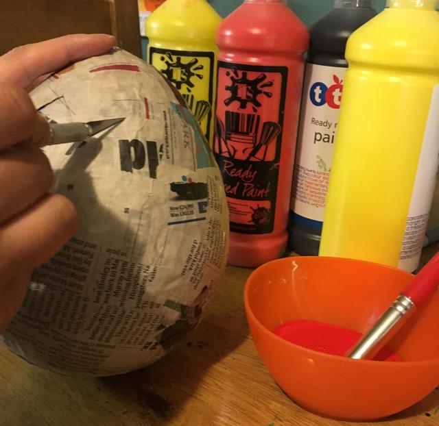 Papier Mache Dragon Egg