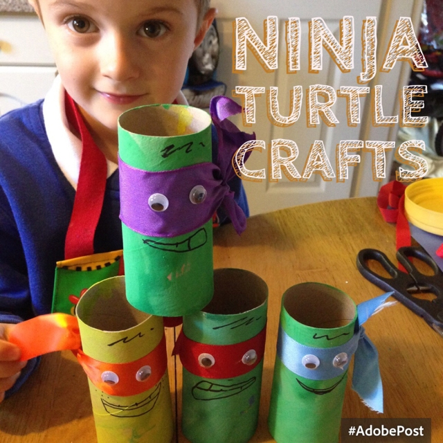 Recycled Toilet Roll Tube Ninja Turtles