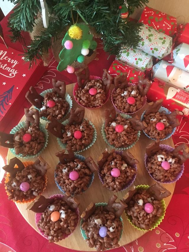 Christmas Chocolate reindeer crispies