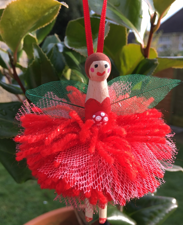 Peg Doll Pom Pom Fairy