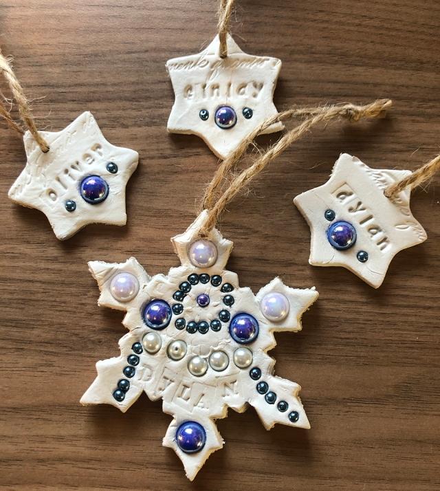 Handmade Air Dry Clay Christmas Decorations