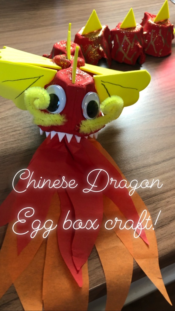 Egg Box Chinese New Year Dragon