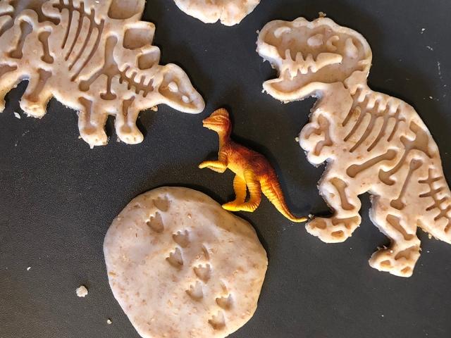 little munchkins play dough dinosaur bones